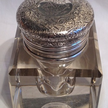 Sampson Mordan Victorian Inkwell - Office