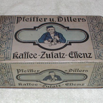 German Coffee Tin Pfeiffer u. Dillers - Advertising
