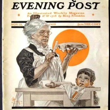 J. C. LEYENDECKER'S  THANKSGIVING COVERS I - Posters and Prints