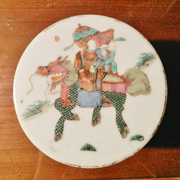 Antique Chinese Porcelain Circular Box