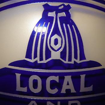 Glass Bell Sign from Buffalo NY