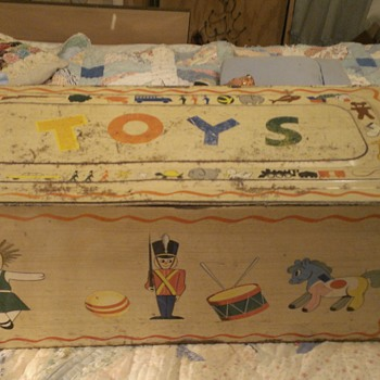 Marx tin toy chest - Toys