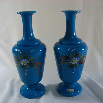 Blue bohemian glass