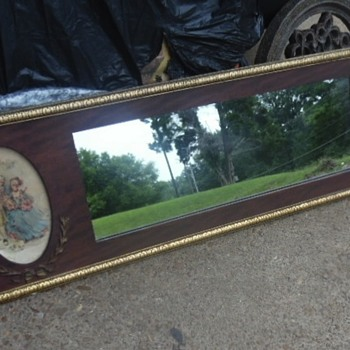 Beautiful Vintage/Antique Mirror Vivtorian Prints/Litho On Each End