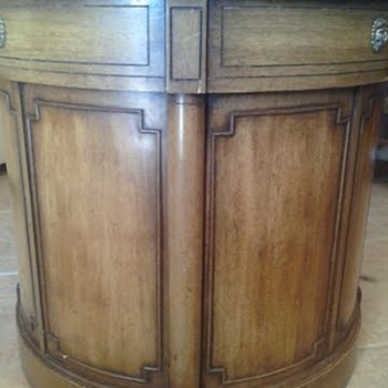 Thomasville Chair Company Drum Table/what kind of wood? - Furniture