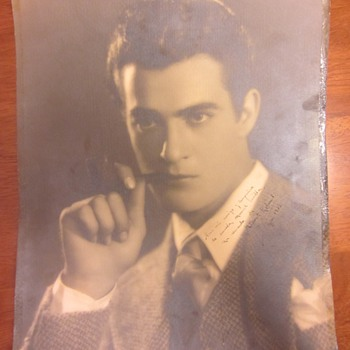 Early Gilbert Roland Inscribed &amp; Signed Photograph From Photographer Melbourne Spurr 