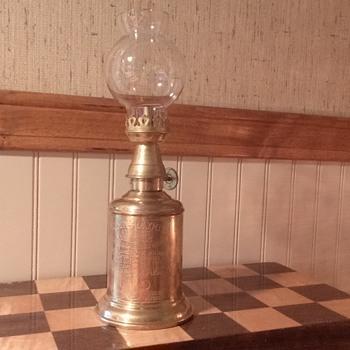 brass lantern.