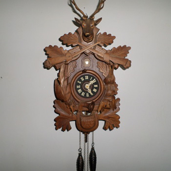 Old Schmechenbecher Cuckoo Clock with Battery Rewinder - Clocks