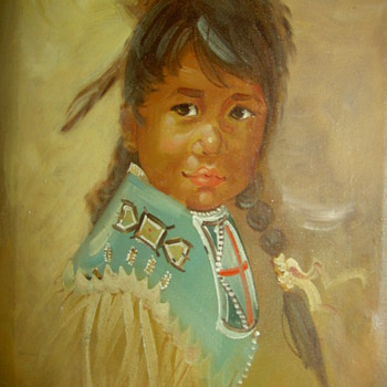 My absolute favorite Native American Indian oil painting. - Dolls