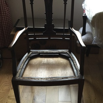 Chair with Inlay - Any ideas of age?