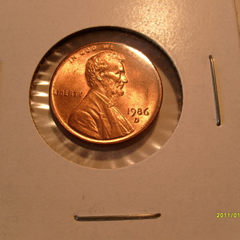 1986 D Lincoln cent (Multiple Error's)