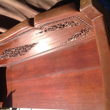 Vietnamese Wooden Carved lounge bench seat /pew