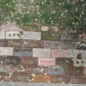 Bricks from a different place, bricks from a different time.
