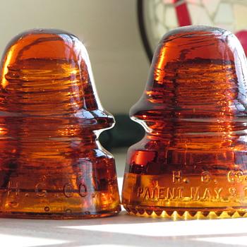Glowing orange Amber HGCO 162 with sharp drip points (SDPs)