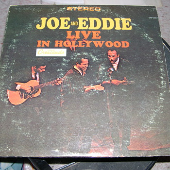 JOE AND EDDIE LIVE IN HOLLYWOOD CRESCENDO RECORD LABEL - Records