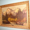 Oil Painting &quot;Reproduction&quot; By Richard Wood.  &quot;In The Tetons&quot; Circa Early 1950&#039;s??