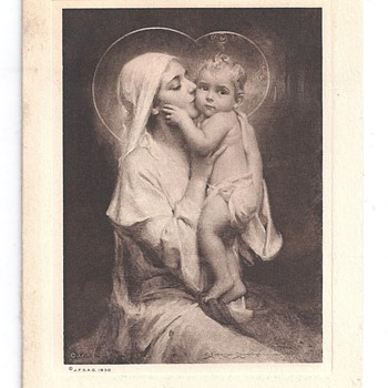CLOSE UP PICTURE OF A 1930 CHRISTMAS CARD - Postcards