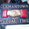 FIRE MARK Germantown Mutual Fire Insurance Company Cast Ironl Marker PLAQUE