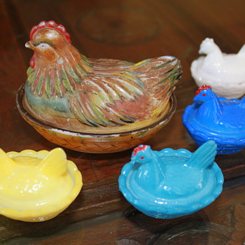 Hen Covered Dishes - Glassware
