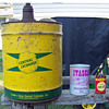 My Central Exchange, Itasca, and Winchester oil cans.