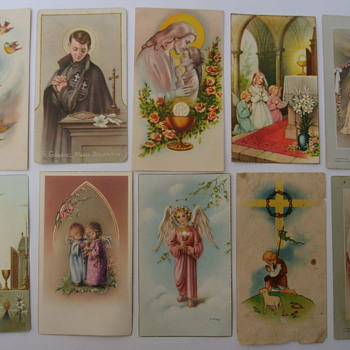 Vintage Communion Cards.