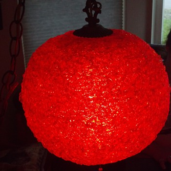 Big bright retro 60s 'spaghetti' swag lamp,