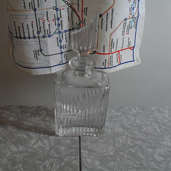 Glass decanter.