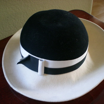 Old White & Black women's hat - Hats