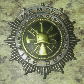 Antique possibly military fireman's badge