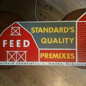 Standard Chemical Feed Barn Sign Tin