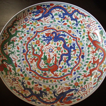 19thc 'Wanli 'Polychrome Charger - Asian