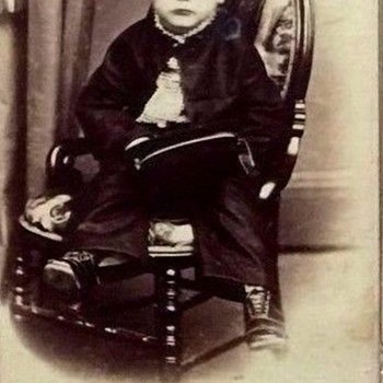 VINTAGE CDV OF A LITTLE BOY THAT LOOKS  A LITTLE FRIGHTENED,BUT SO CUTE!