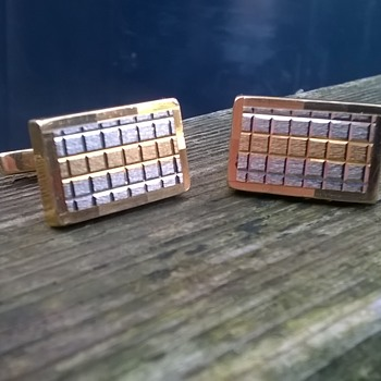 750 Italian Gold (18K) Tri-color Cuff Links Vintage Shop Find 7,00 Euro ($7.27)