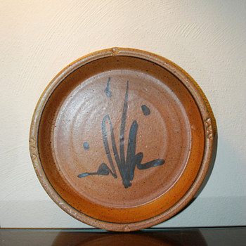 Stoneware Charger Signed Burkett - Art Pottery