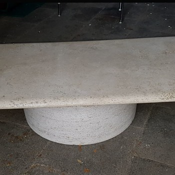 Mid Century Traverline Table - designer ?