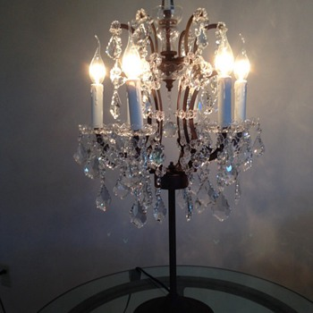 Crystal and wrought iron lamps  - Lamps