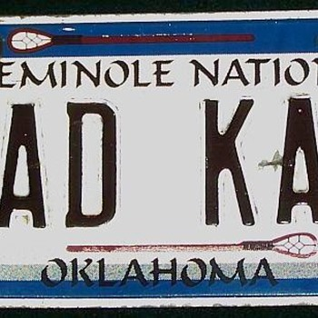 Seminole Nation Vanity Plate - Signs
