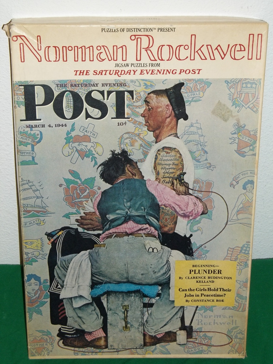 The saturday evening post tattoo artist by norman for Norman rockwell tattoo