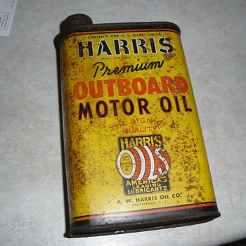 Harris Oil can - Petroliana
