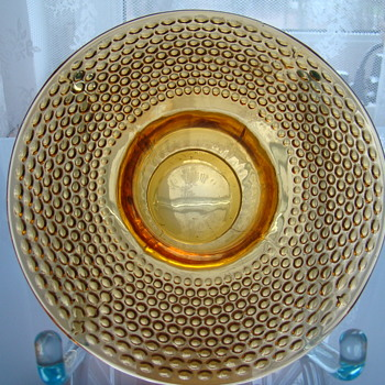Jobling amber posy vase - Art Glass