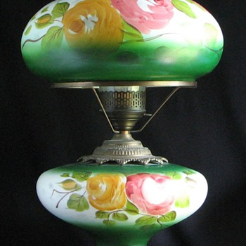 1960s GWTH Hand Painted Table Lamp