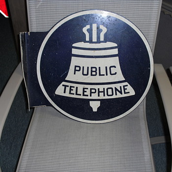 Vintage Bell System Payphone Sign