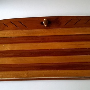 Earl Gresh Patented Wooden Purse . ?? What Do You Think? Thrift Shop Find