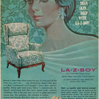 1968 - La-Z-Boy Chair Advertisement - Advertising