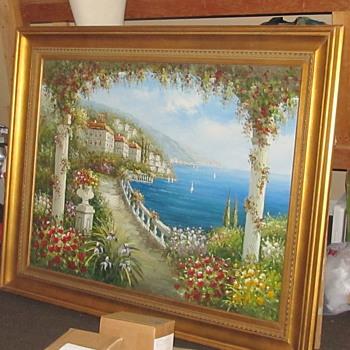 Large Italian Painting by Antonio  - Visual Art