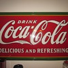 3 by 5 foot Porcelain Coca Cola Sign Dated 1932