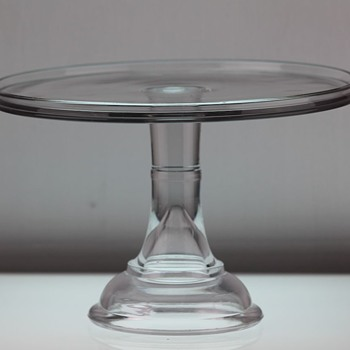 McKee & Brothers 'Solid Stem Salver' c1882 - Glassware
