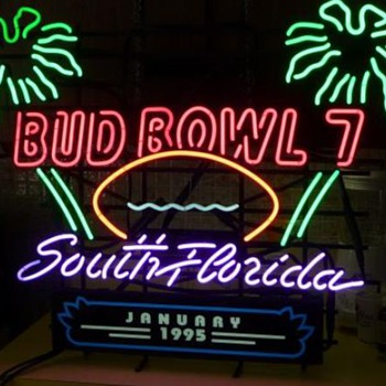 Bud Bowl neons - Signs