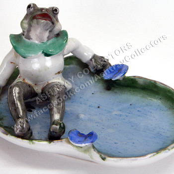 Frog Figurine Ashtray
