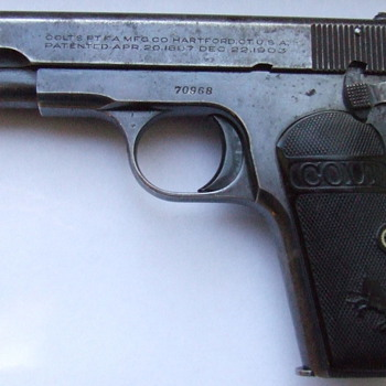 1903 Colt Automatic .380 hammerless carried at Normandy invasion - Military and Wartime